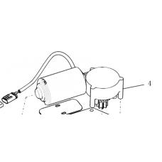 84273916 Электромотор с редуктором регулирования подбарабанья CNH на комбайн CASE